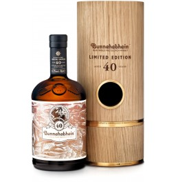 Виски Bunnahabhain Aged 40 years, Limited Edition, wooden tube, 0.7 л