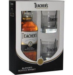Виски Teacher's Highland Cream, gift box with 2 glasses, 0.75 л