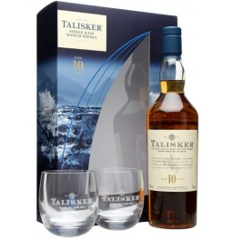 "Виски ""Talisker"" 10 years old, gift box with 2 glasses, 0.7 л"