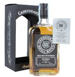 "Виски Cadenhead, ""Littlemill"" 22 Years Old, gift box, 0.7 л"