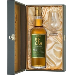 "Виски Kavalan, ""Solist"" Ex-Bourbon Cask (57,8%), gift box with glass, 0.7 л"