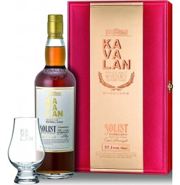 "Виски Kavalan, ""Solist"" Sherry Cask (57,1%), gift box with glass, 0.7 л"