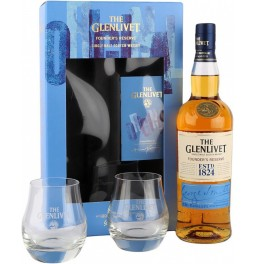 "Виски The Glenlivet ""Founder's Reserve"", gift box with 2 glasses, 0.7 л"