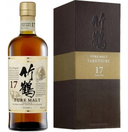 "Виски Nikka, ""Taketsuru"" Pure Malt 17 Years Old, wooden box, 0.7 л"